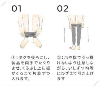 ベルシアー着圧レギンスの正しい履き方
